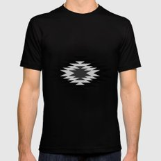 Aztec - black and white SMALL Mens Fitted Tee Black