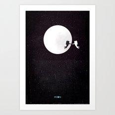 Moon alternative movie poster Art Print
