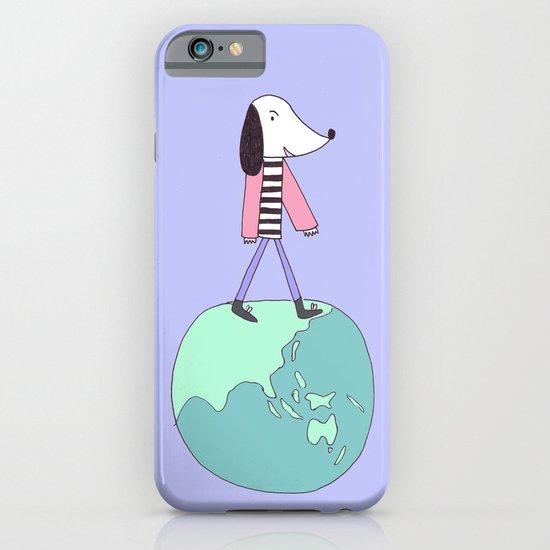 Dog globe iPhone & iPod Case
