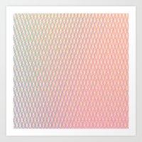 Gradient Weave Art Print