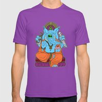 Ganesha Mens Fitted Tee Ultraviolet SMALL