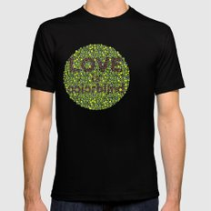 Love is Colorblind Mens Fitted Tee SMALL Black