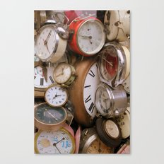 Stop the Clocks Canvas Print