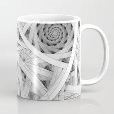 GET LOST - Black and White Spiral Mug