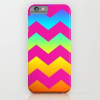 iPhone & iPod Case featuring Rainbow Zig - Zag by All Is One