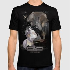 adamned.age artist poster  Mens Fitted Tee SMALL Black