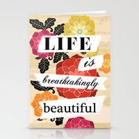 Life Is Breathtakingly B… Stationery Cards