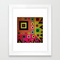 mixed shapes Framed Art Print