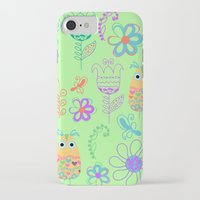 owls iPhone & iPod Cases featuring Owls by luizavictoryaPatterns