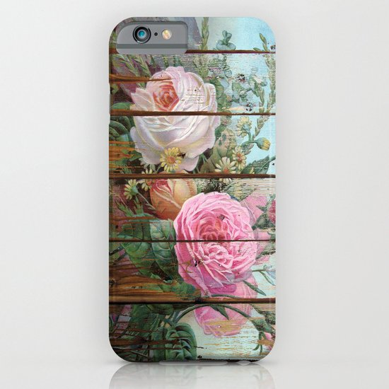 recycled art- rose wood iPhone & iPod Case