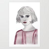 Pastel Girl 3 Art Print