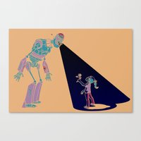 Robot Number 3 And Me Canvas Print