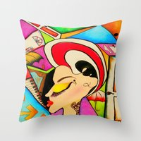 The Doors In Drag Throw Pillow