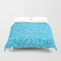 Ab Fan Electric Repeat Duvet Cover