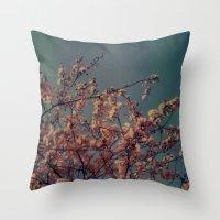Cherry Blossoms, Polaroi… Throw Pillow