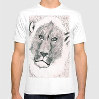 Lion Around Mens Fitted Tee White SMALL