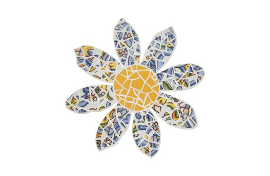 Mosaic Flower 002 Art Print
