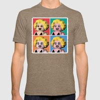 Marilyn Mens Fitted Tee Tri-Coffee SMALL