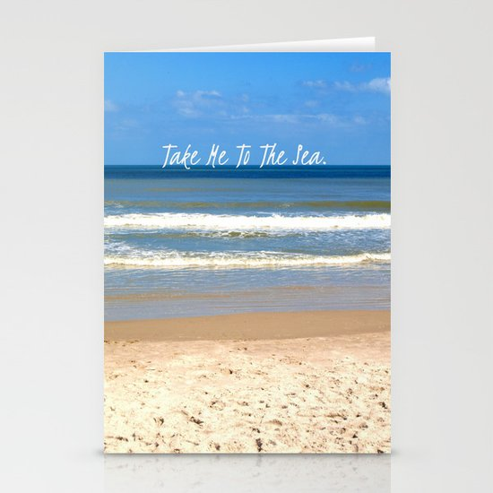 Take Me To The Sea Stationery Card