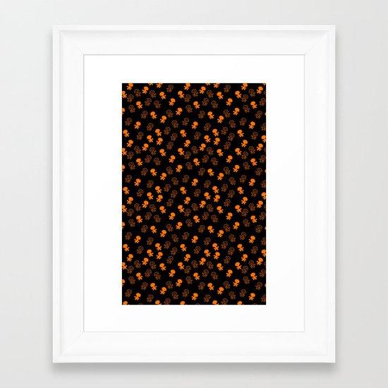 Aliens-Orange Framed Art Print