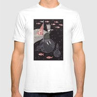 Five Hundred Million Lit… Mens Fitted Tee White SMALL