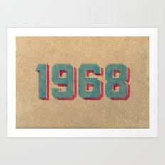 Vintage 1968 Art Print