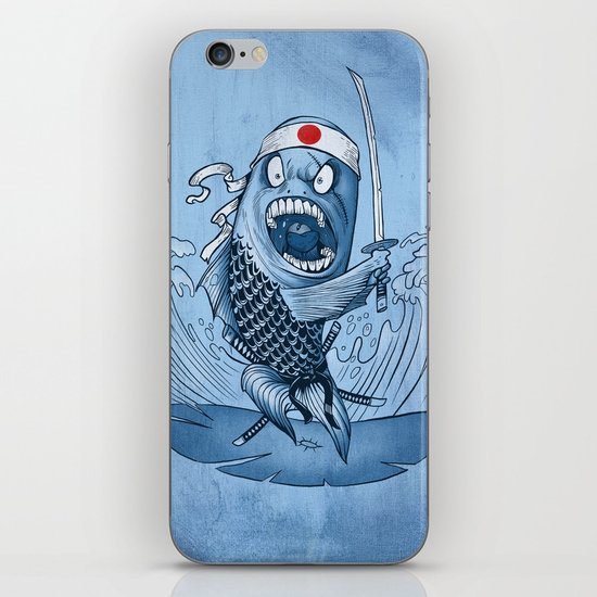 Samurai sushi iPhone & iPod Skin