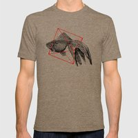 Fish In Geometrics III Mens Fitted Tee Tri-Coffee SMALL