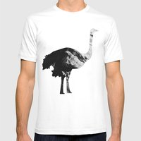 Ostrich (The Living Things Series) Mens Fitted Tee White SMALL