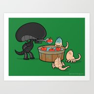 Art Print featuring Apple Bobbing Champion by Anna-Maria Jung
