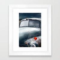 Blue Truck Framed Art Print