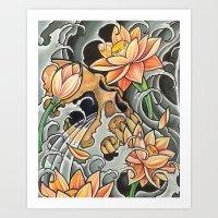 Asian Skull 1 Art Print