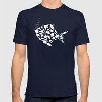 Fish are friends..... Mens Fitted Tee Navy SMALL