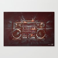 DARK RADIO Canvas Print