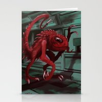 Space Monster Stationery Cards