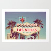 Welcome To Fabulous Las … Art Print