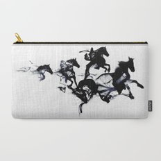 Black horses Carry-All Pouch