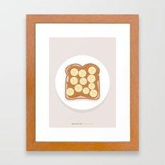 Peanut Butter & Banana Toast Framed Art Print