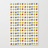 Coins, Boxes and Power ups, Oh my! Canvas Print
