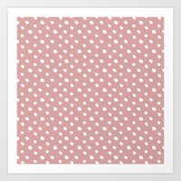 Mauve polka dots pattern - classy college student collection Art Print