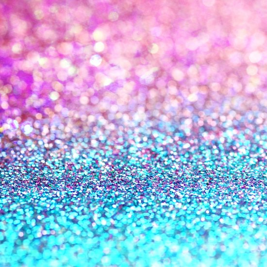Pastel sparkle- photograph of pink and turquoise glitter Art Print