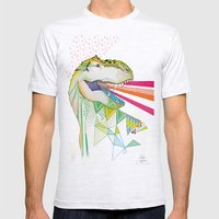 Dinosaur / August Mens Fitted Tee Ash Grey SMALL