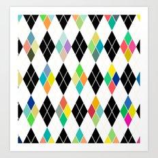 Colorful Geometric III Art Print