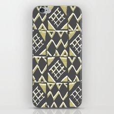Grey and Beige Pattern Print iPhone & iPod Skin
