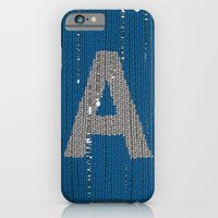 iPhone & iPod Case featuring Winter clothes. Letter A. by Studio Caravan