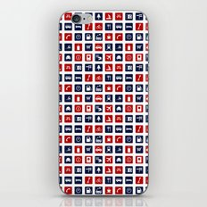 Travel Icons in RWB iPhone & iPod Skin