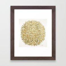 Golden Burst Framed Art Print