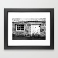 Lucky Scottish Door Framed Art Print