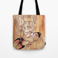 Bunny Rocket Tote Bag