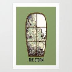 Windows the storm Art Print